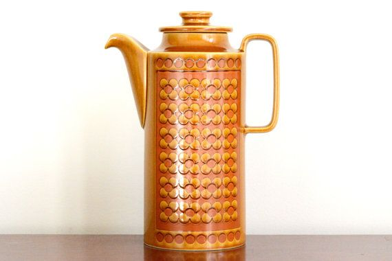 a beautiful vintage piece, functioning teapot, or lovely display and even a vase - I love a versatile find!  Hornsea Pottery Saffron teapot circa 1972 by ThatRetroPiece