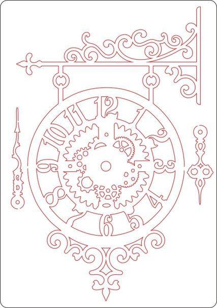 часы на кронштейне