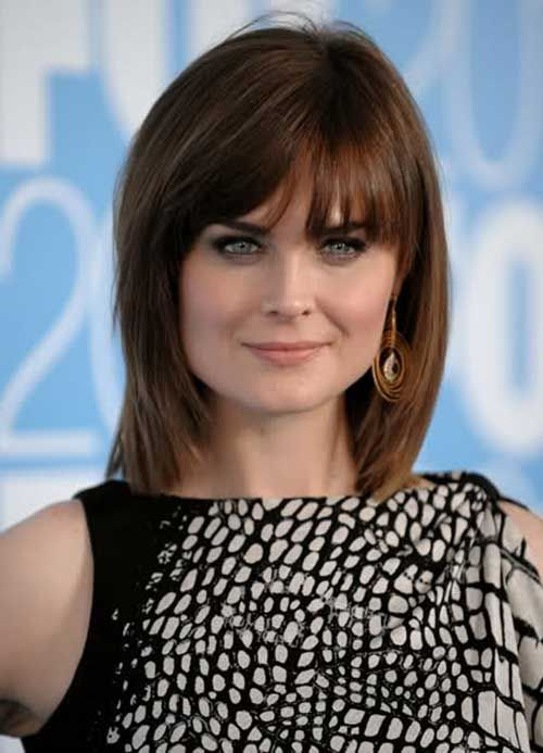 Shoulder Length Hairstyles For Dark Brown Hair : Best 25 brown bob hair ideas on pinterest haircut