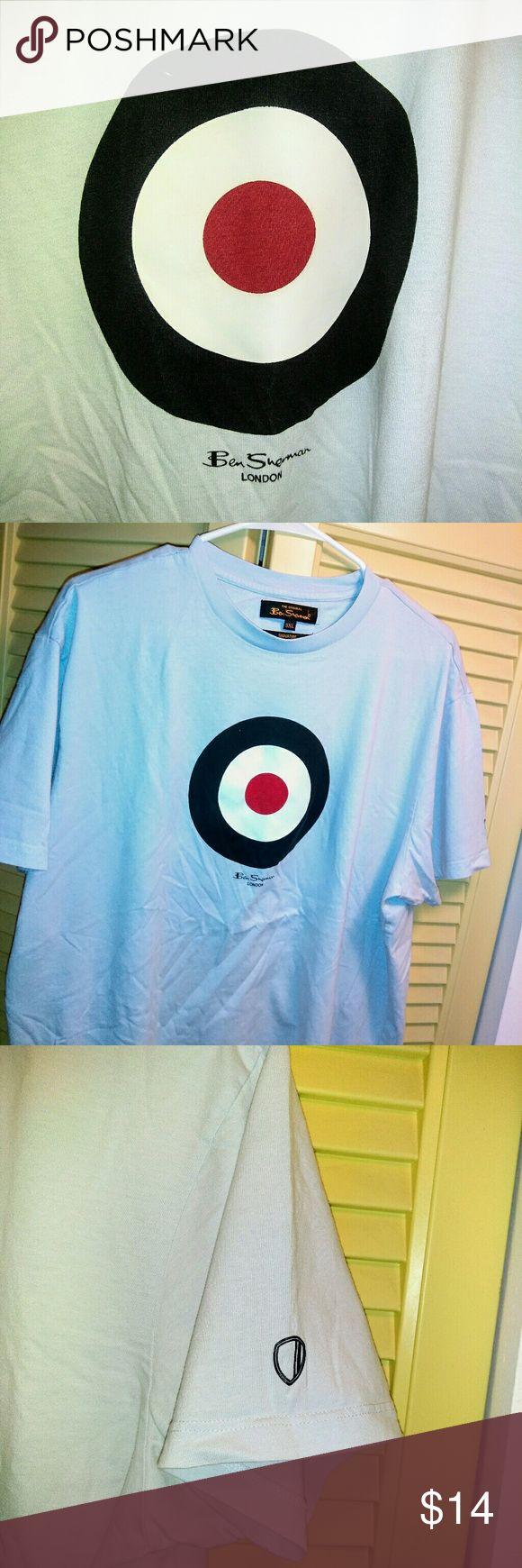 Men's Ben Sherman 3XL shirt 100% cotton light blue shirt with Ben Sherman logo.  Fits more like a 2XL. Ben Sherman Shirts Tees - Short Sleeve