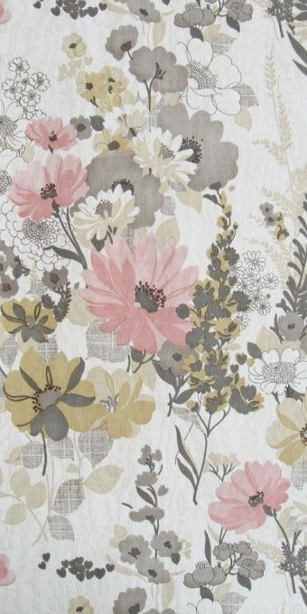 Pretty vintage floral wallpaper | Aurelia €59.00 per roll - probably wouldn't use something like this for wallpaper, but for the lining inside a bookcase.
