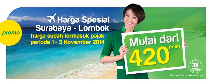 Promo Citilink Rp 280,800 and Special Surabaya - Lombok Rp420,000 Find the complete detail of promo on our http://blog.airpaz.com/id/promo-citilink-1-3-november-2014/