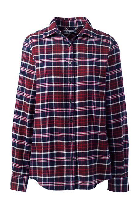 Women's Flannel Shirt size 6 : Rich cardinal plaid or pink plaid
