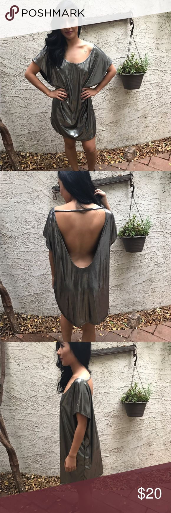 Metallic AA dress! NWOT, Perfect for NYE but also cute for any going out occasion! this dress is simple + sexy which is always a plus!! 💕 American Apparel Dresses