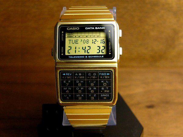 wts jam tangan CASIO DATABANK KALKULATOR gold & silver | KASKUS