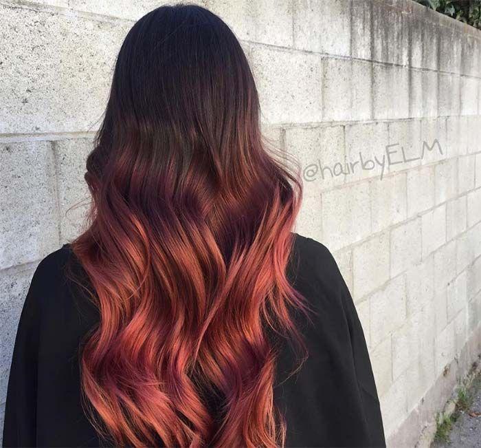 Https Fashionisers Com Wp Content Uploads 2016 09 Red Hair Colors Ideas Auburn Cherry Burgundy Copper Hair Sh In 2020 Burgundy Hair Black Hair Balayage Balayage Hair