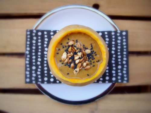 BUTTERNUT SQUASH CREAM with ROASTED SEEDS