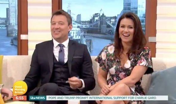 Susanna Reid flaunts cleavage in floral dress as she overshadows Ben Shephard's new look - http://buzznews.co.uk/susanna-reid-flaunts-cleavage-in-floral-dress-as-she-overshadows-ben-shephards-new-look -