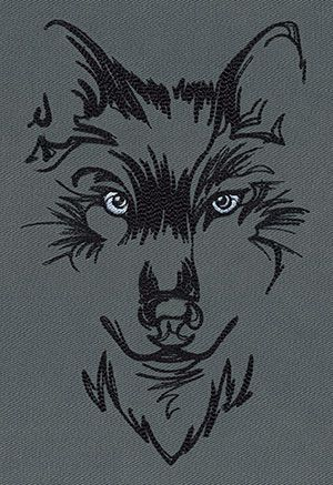 Watching Wolf | Urban Threads: Unique and Awesome Embroidery Designs (5x7)