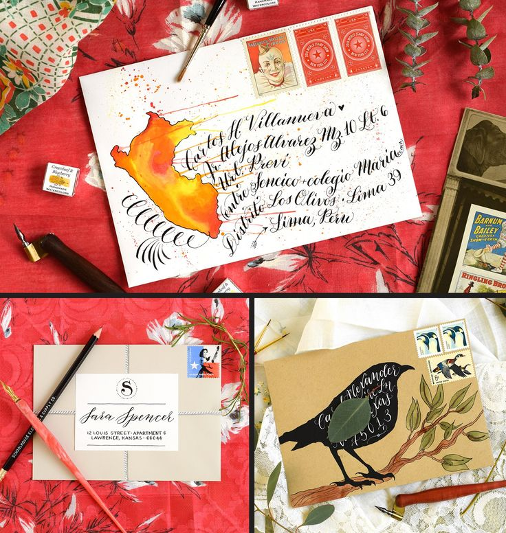 Three Decorated Envelopes Mini Tutorials   The Postman's Knock