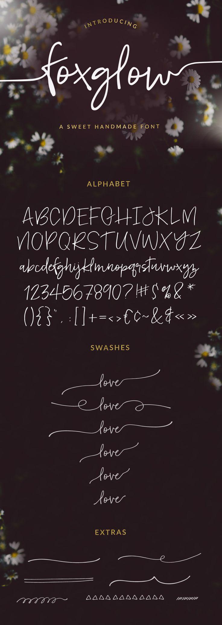 Foxglow Modern Handwritten Font by angiemakes