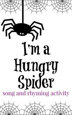 A fun spider preschool song to work on rhyming words from growingbookbybook.com