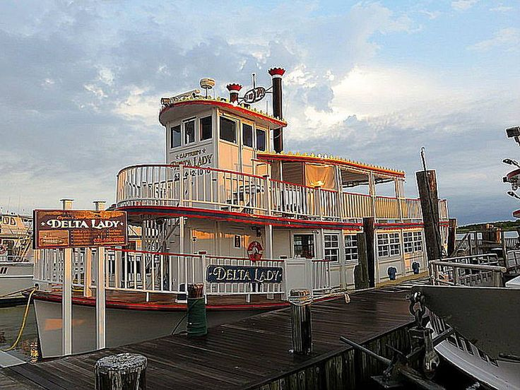Fishing boat Delta Lady, Captree State Park, Jones Beach Island, New York. July 13, 2014.