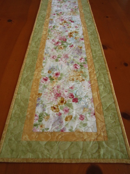 Spring Floral Quilted Table runner