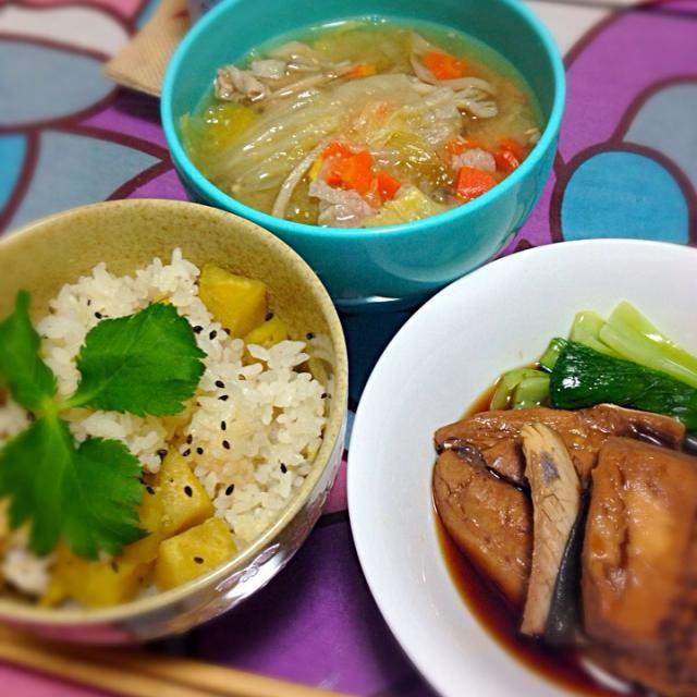 さつまいもご飯と煮魚と豚汁☆ - 13件のもぐもぐ - 秋の晩御飯 by sumile