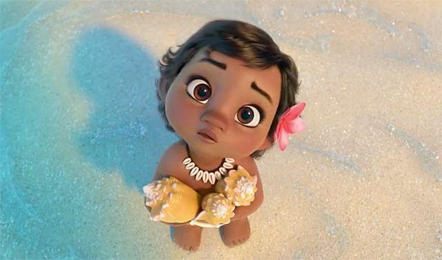 Moana, novo filme da Disney, ganhou um trailer para o mercado japonês e tem a protagonista muito fofa bebê.