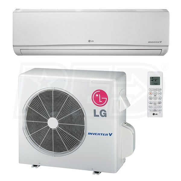 Lg Ls243hlv 24k Btu Cooling Heating Wall Mounted Air Conditioning System 21 5 Seer Air Conditioning System Hvac Air Conditioning Heating And Cooling
