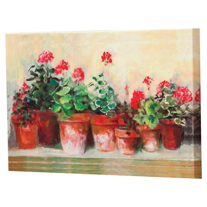 Geraniums Indoor/Outdoor Wall Art