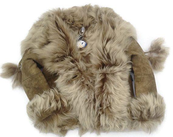 Shearling Coat Lambskin Fur Genuine Leather Fur Ball Wool Pom-pom Sheepskin Coat…