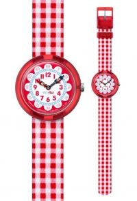 FLIK FLAK Gingham Red Fabric Strap ZFBNP078