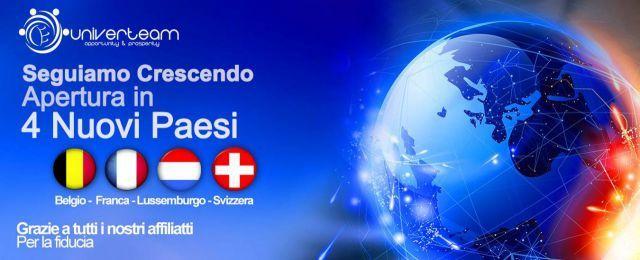 Altri quattro paesi si sono aggiunti a Univerteam Europa  Registrati qui: sistema.univerteam.com
