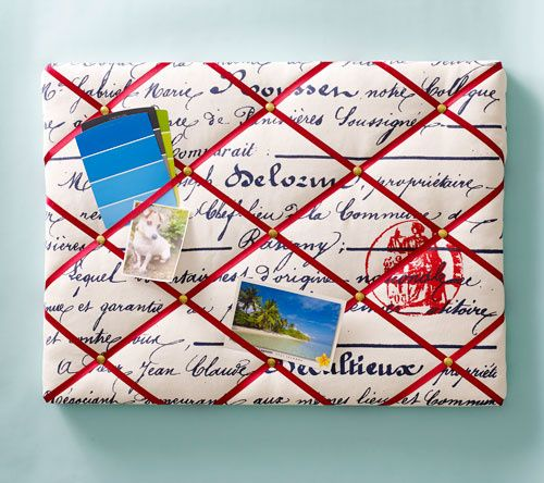 DIY French Memo Board on ClintonKelly.com