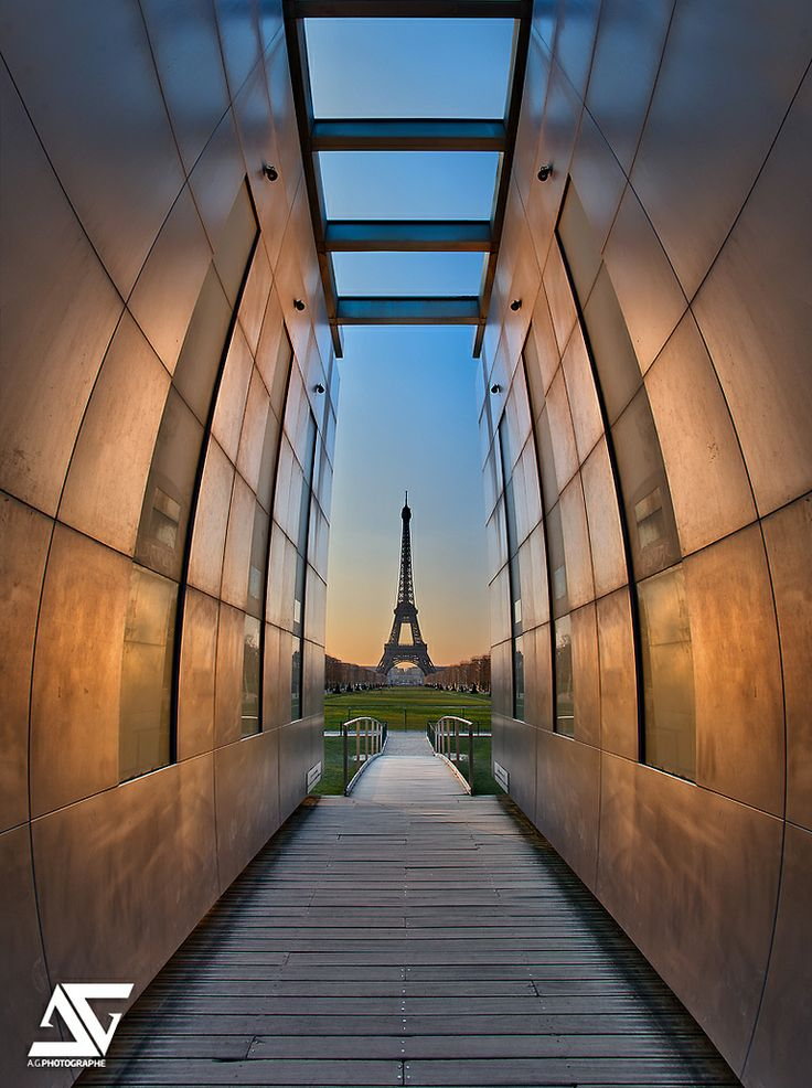 Eiffel Tower from The Wall for Peace