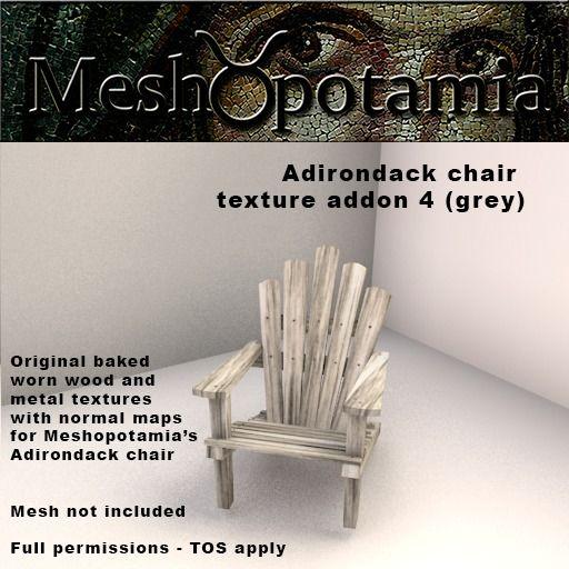 Meshopotamia Adirondack texture addon set 4 (Grey)