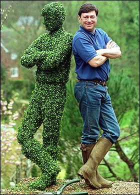 "Alan Tichmarsh's topiary double""...loved Alan's gardening shows...wish we still got them!"