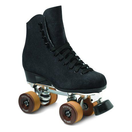 Elegant Skate package features the model suede leather boot Century plate Premier wheels QUBE Juice bearings and a Web toe stop