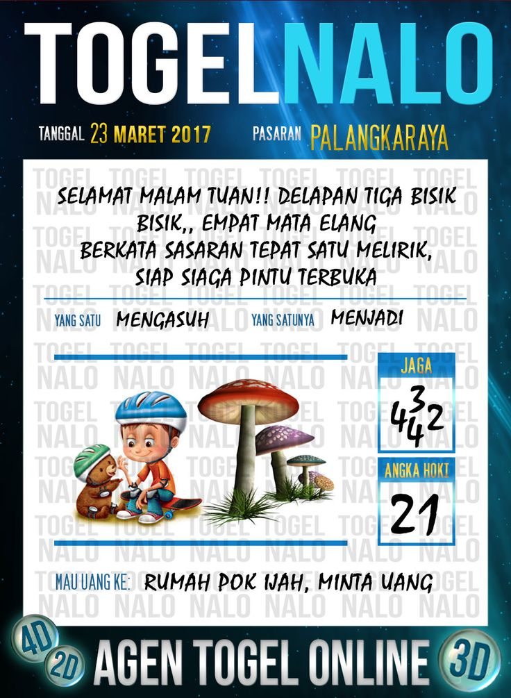 Kode Angka 4D Togel Wap Online TogelNalo Palangkaraya 23 Maret 2017