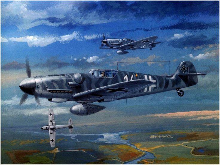 Messerschmitt Bf 109G-8, 2./NAGr 12, pilot Heimo Emmerstorfer, Albania 1944