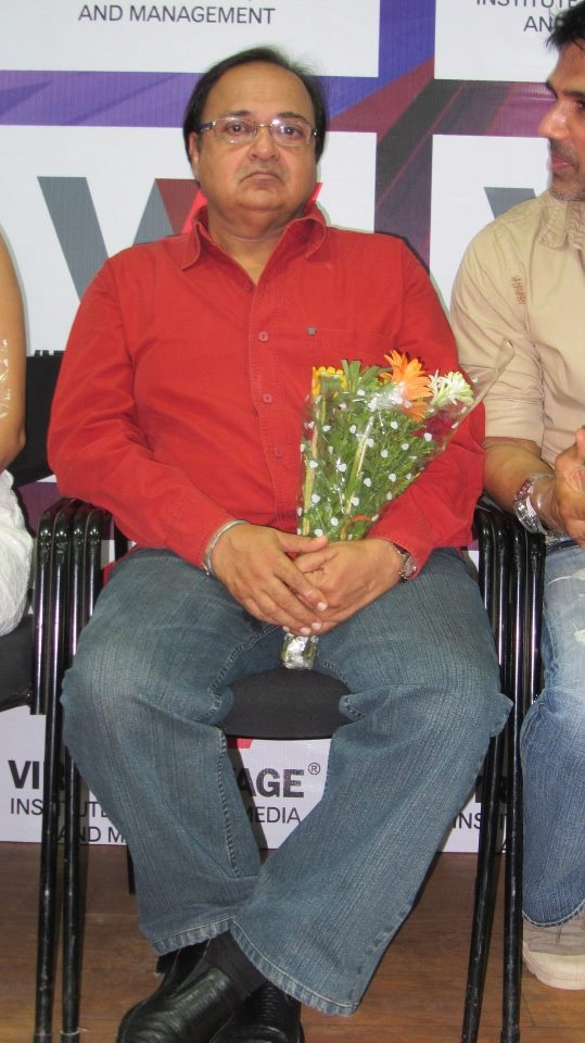 Rakesh Bedi in an interactive session with students.