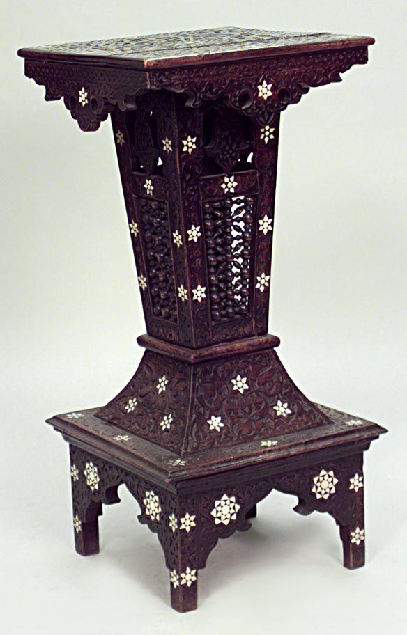 Middle Eastern Moorish Syrian Misc Furniture Pedestal Walnut Moorish Syrian Pinterest