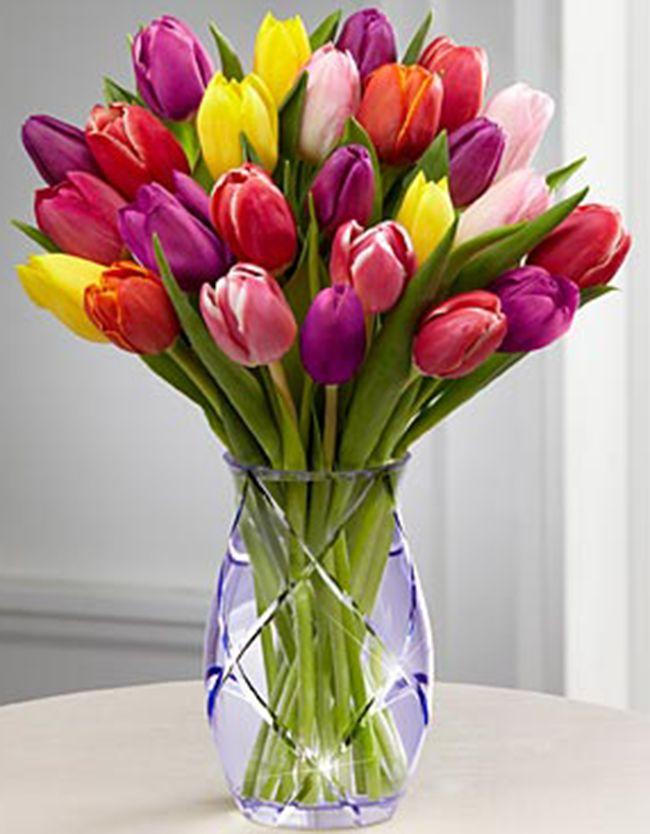 Buchete de flori - Buchet de 25 lalele multicolore
