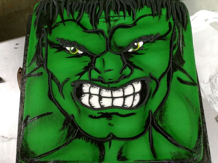 The Incredible Hulk Cake. Buttercream, hand painting, and airbrush.