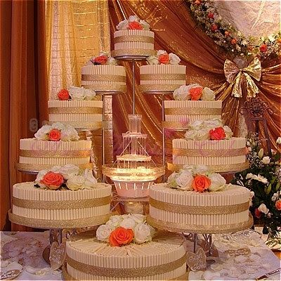 25 best Wedding Cakes with Fountains and stairs images on Pinterest