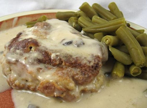Baked Pork Chops. I've made these 3 times now. They are the best pork chops ever! In case you don't read comments, use thick cut, bone-in chops. (granted, this picture is ugly) Make these!