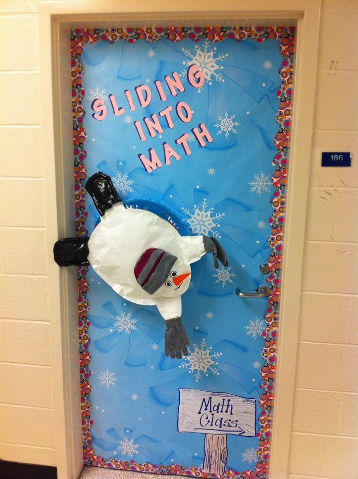 """""""My winter door for my math class."""" Submitted by Latonya Taylor-Rowe  via our WeAreTeachers Facebook page."""