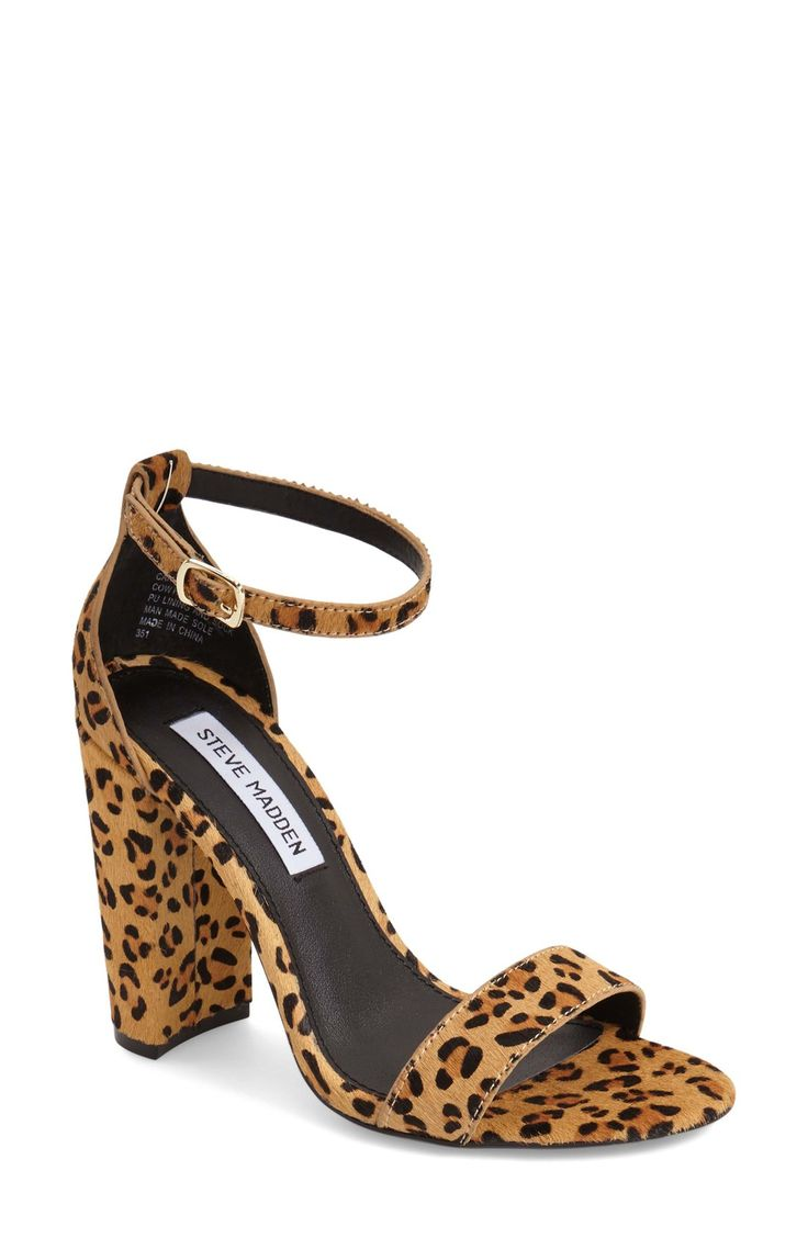 Obsessed with these sassy Steve Madden sandals! The leopard print pairs perfectly with the sleek silhouette of the shoe.