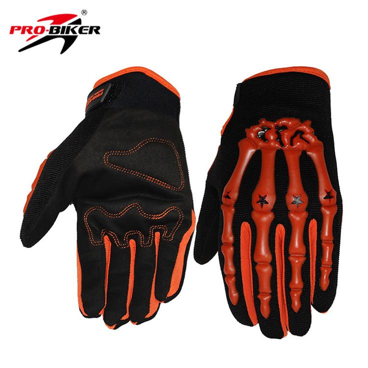 PRO-BIKER Skull Style Motocross Off-Road Racing Gloves Motorcycle Riding Gloves MTB Bike Bicycle Cycling Full Finger Gloves Luva