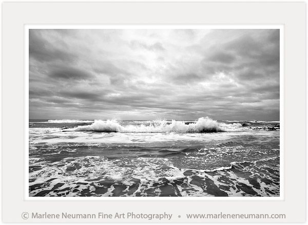 """Seascape I"" - Black and White Fine Art Photography by South African Master Photographer Marlene Neumann - www.marleneneumann.com - E-mail: neumann@worldonline.co.za"