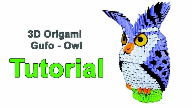 Origami 3d Owl Tutorial 1/32 Origami 3d Gufo Tutorial