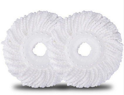 From 9.99 Shop4choice Pack Of 2 Refill Mop Heads For Rotating Spin Magic Mop - Microfibre Replacement Spinning Mop Heads (white )