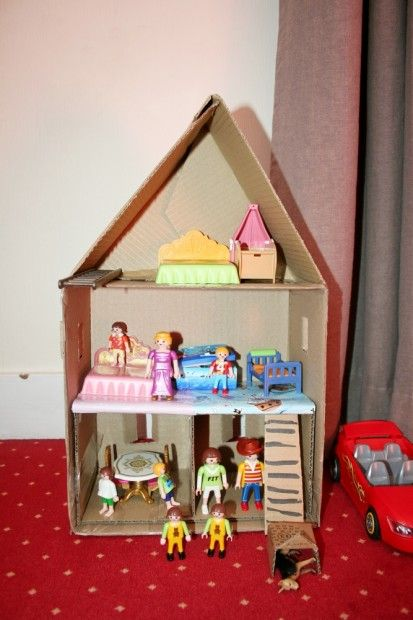 diy tutoriel maison playmobil 5 diy tutoriels pour enfants pinterest playmobil et bricolage. Black Bedroom Furniture Sets. Home Design Ideas