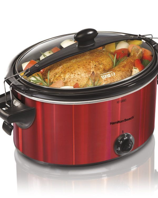 Hamilton Beach slow cooker red