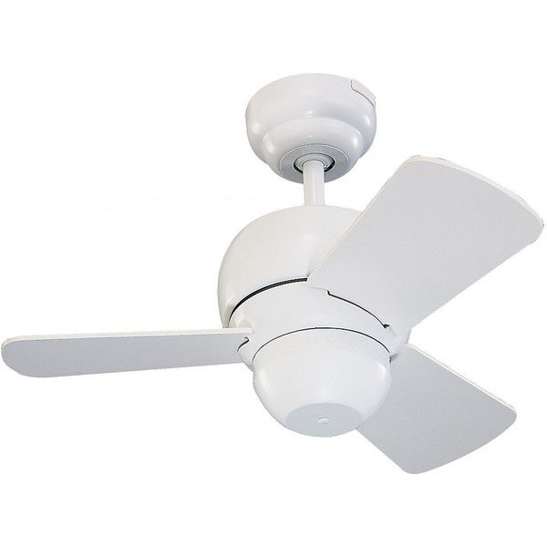 "Monte Carlo 24"" Micro 24 Fan - White - Ceiling Fan 3TF24WH ($199) ❤ liked on Polyvore featuring home, home decor, fans, transitional home decor, white ceiling fan, transitional ceiling fans, white home decor and white home accessories"