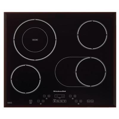 """24"""", 4 ronds supplémentaires, 1798$ - KitchenAid - Table de cuisson électrique de 24 po, 4 éléments - KECC548BSS - KECC548BSS - Home Depot Canada"""