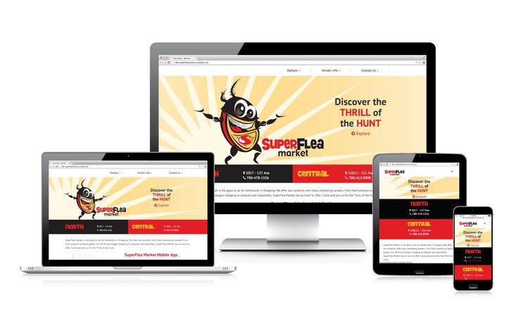 Superflea Market's new website is fun and easy to use on any device, perfect for the last minute flea market hunters. #webdesign #onlinemarketing #responsiveweb