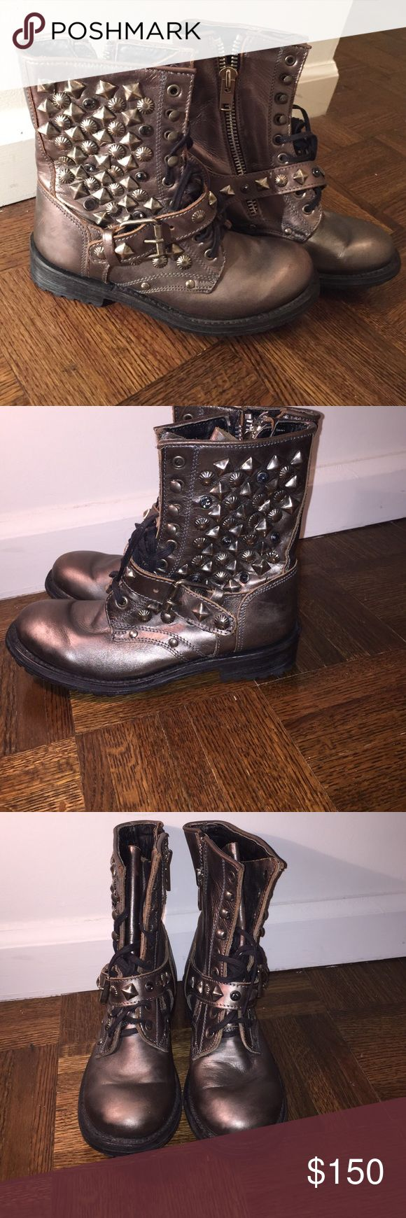 Ash studded combat boots Brand new beautiful boots Ash Shoes Combat & Moto Boots